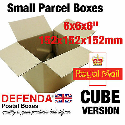 25 x ROYAL MAIL SMALL PARCEL SIZE CARDBOARD POSTING POSTAL CUBE SQUARE BOXES