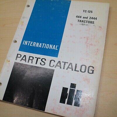 Ih International 444 2444 Tractor Parts Manual Book Spare Catalog Farm List 1970