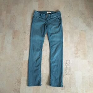 Teal Mudd Jeans, Size 1