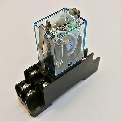 Us Stock Omron My2n J My2nj Hh52p L 12V Dc Coil Cube Relay   Pyf08a Socket Base