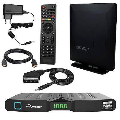 Freenet Skymaster DTR5000 DVB-T2 FULL HD TV Terrestrisch Receiver + Antenne 32dB