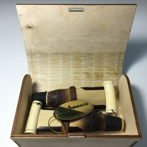 (kay A,C,D,F,G) professional reeds for the Armenian duduk + beautiful wooden box