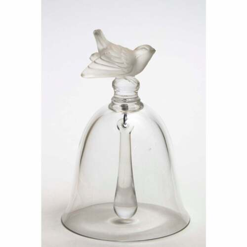 Lalique Crystal Bell with Sparrow