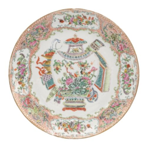 A Chinese Porcelain Famille Rose Decorated Export Plate