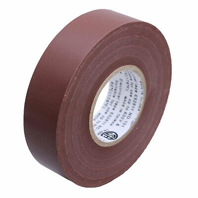 1 Roll Brown Electrical Insulating Tape Vinyl 34 Inch 20 Yards Ul Listed