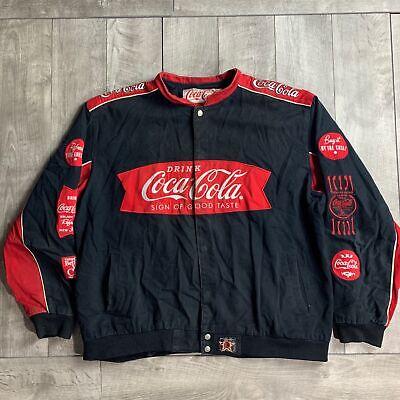 Vintage Coca Cola Classic Coke Refresh Yourself Jacket Mens 3XL Jeff Hamilton
