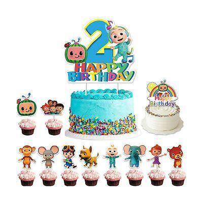Coco-melon Birthday Cake Topper Set  Cupcake Decoration JJ Melon Theme Party