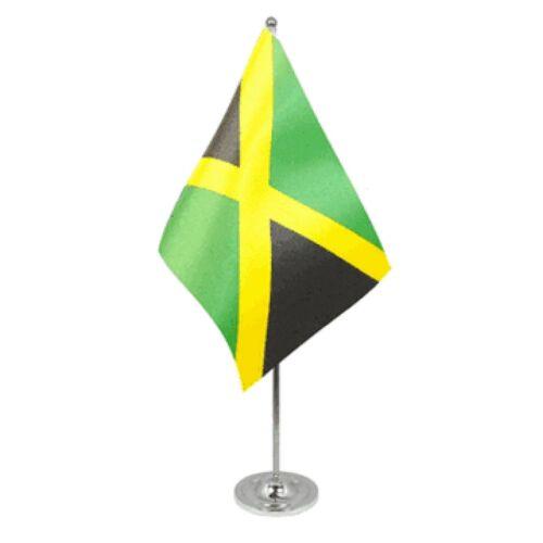 Jamaica Satin & Chrome Premium Table Flag