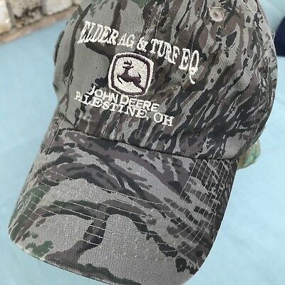 Hat Trick Clothing (JOHN DEERE CAMO CAP HAT ELDER AG & TURF EQ PALESTINE OHIO OH ADJUSTABLE)