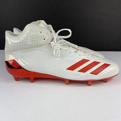 Adidas Adizero 5-Star 6.0 Mid Football Cleats White Red Chrome SZ 12.5 AH2003 PE