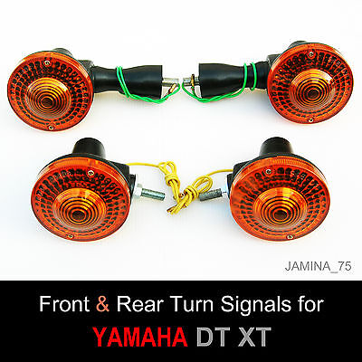 Yamaha Xt250 Xt500 Xt Dt Front   Rear Turn Signal Blinker Winker Indicator Set 4