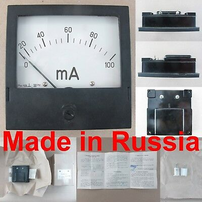 0-100ma Ac Ammeter E377x Russian Analog Panel Amp Meter 120120mm Current Gauge
