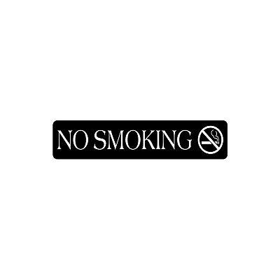 No Smoking Sign 2x 9black W White Letterslaser Engravedindooroutdoor