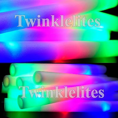 100 LED Foam Sticks Flashing Glow Light Up Wands Wholesale Wedding Party Lot DJ - Glow Wands Wholesale