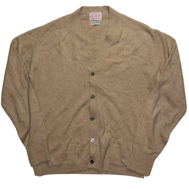 Rare Vtg J&D McGeorge Scotland Capper Capper Cardigan Sweater 100% Cashmere 42 L