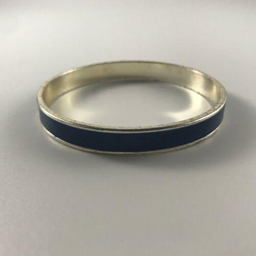Blue silver tone bracelet blue enamel