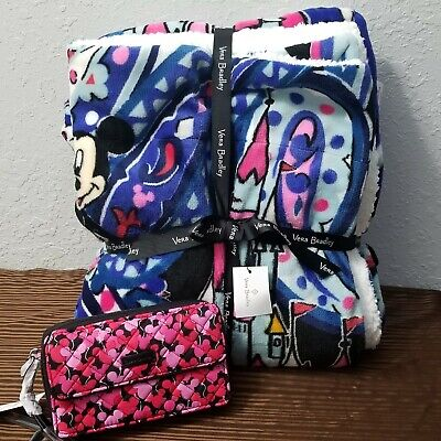 Disney Parks Vera Bradley Whimsical Paisley Crossbody Purse Bag & Throw Blanket