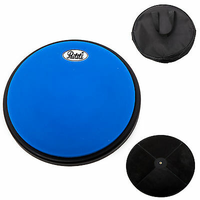 PAITITI 8 Inch Silent Portable Practice Drum Pad Round Shape with Carrying Bag