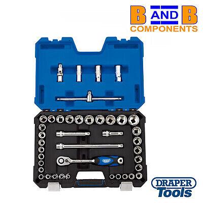 "Draper 16453 1//2/"" Drive Metric /& Imperial 41 Piece Socket Set 8-32mm 7//16/""-1/"" AF"