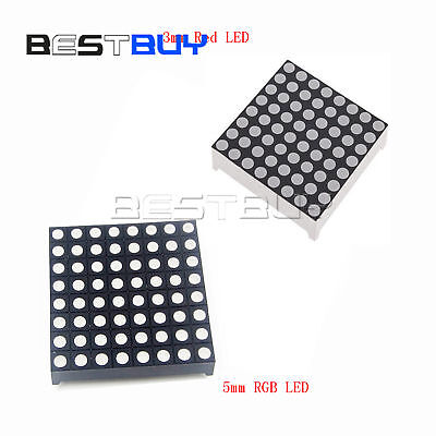 3mm 5mm 88 Redrgb Led Dot Matrix Display Module Common Anodeatf