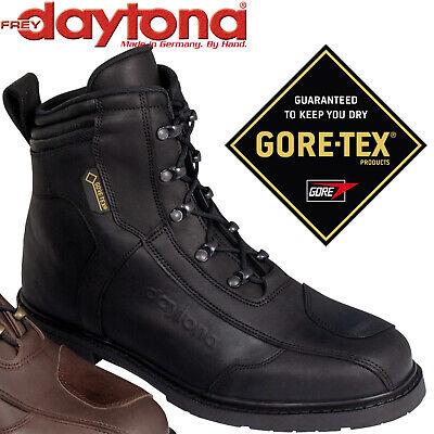 DAYTONA Gore-Tex Motorradstiefel AC CLASSICS GTX schwarz Nubukleder Retro Gr. 43 - Retro Daytona Leder