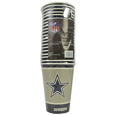 New 20pc NFL Disposable Party Supplies Paper Cup Cups Dallas - Dallas Cowboys Party Supplies