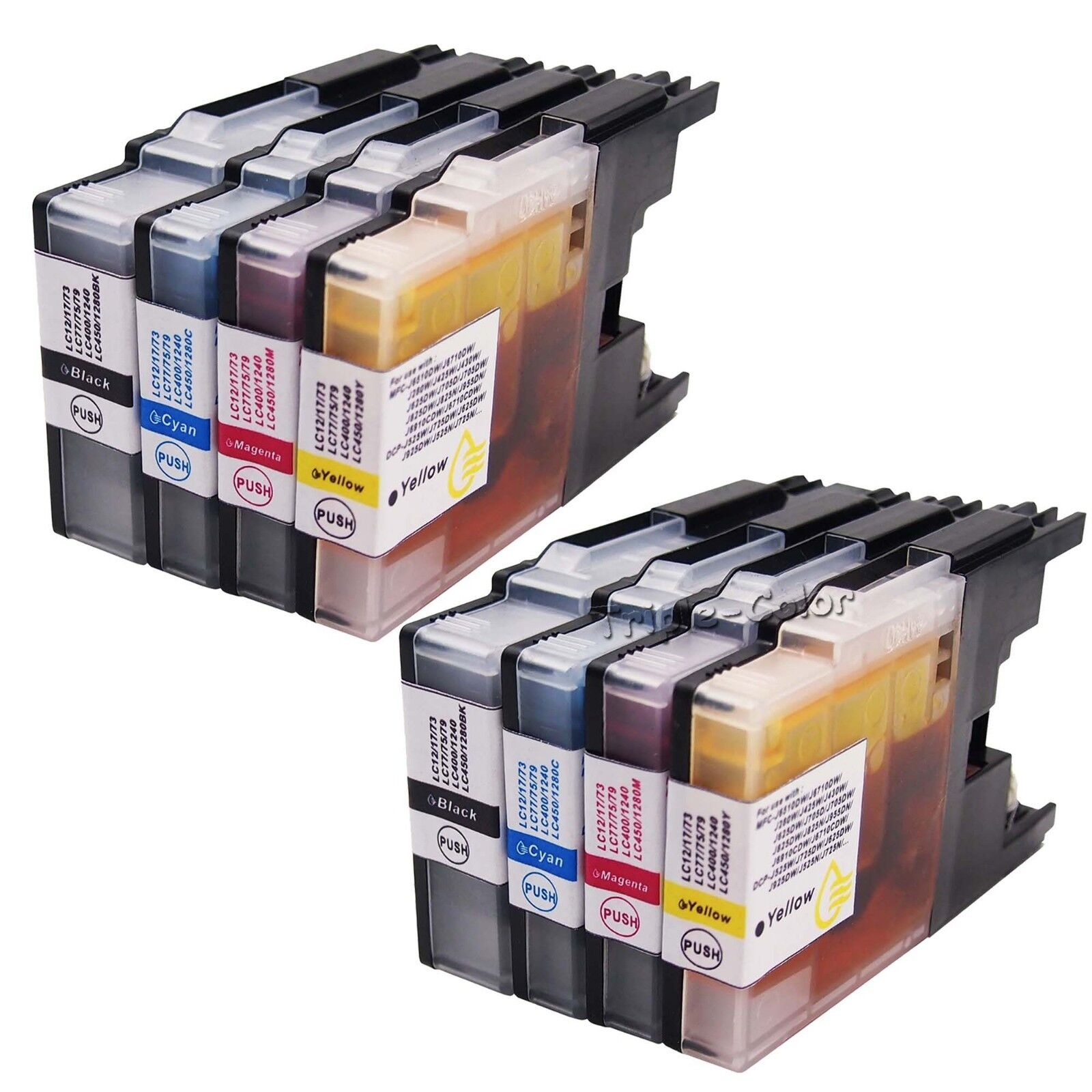 8 Pack Ink Combo 2Set For Brother LC79 LC71 LC75 MFC-J6510DW