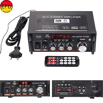 Audio Estéreo Bluetooth Amplificador Coche Música Hogar HiFi SD USB G20 CSC8210
