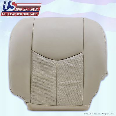 - 2003 2004 2005 Cadillac Escalade Driver Side Bottom Leather Seat Cover Tan #152
