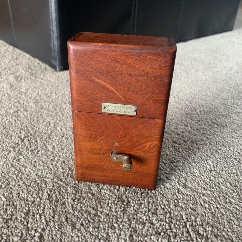 Herman E. Dick & Company Chicago IL 1880 Hand Crank Generator Wood Case RARE