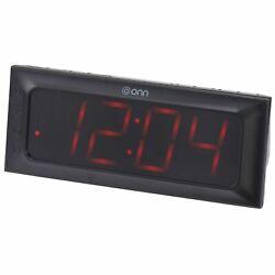 ONN AM/FM Digital Alarm Clock Radio, Black, Large 2 Inch By 6.4 Inch Wide LED...