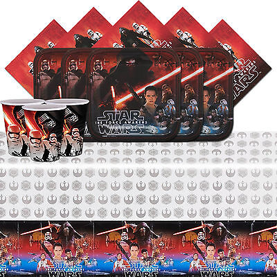 Disney Star Wars The Force Awakens Birthday Party Tableware Pack Kit For 16