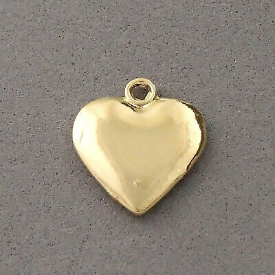 Gold Jewelry Making Supplies (14K Gold Plated Heart Charm jewelry making supplies represents love)