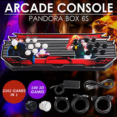2362 in 1 Pandora's Box 7s 3D & 2D Classic Retro Arcade Console Video Game TV PC