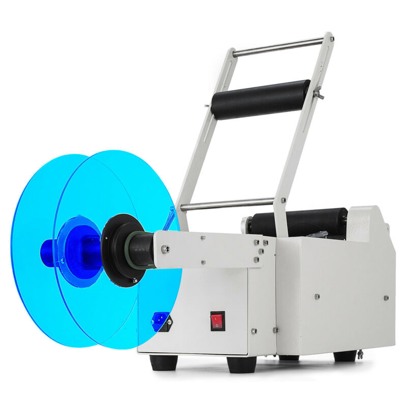 MT-50 120W Semi-Automatic Round Bottle Electric Labeling Machine Labeler