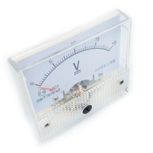 US Stock Analog Panel Volt Voltage Meter Voltmeter Gauge 85C1 0-20V DC