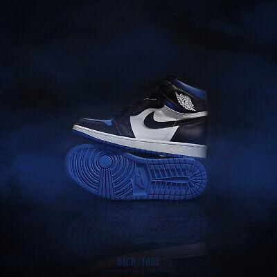 Nike Mens Air Jordan 1 Retro High OG Game Royal Toe Blue Black AJ1 555088-041