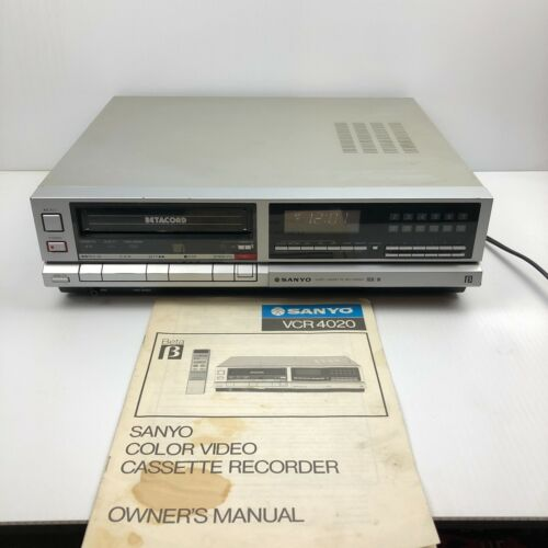 Vintage 1983 Sanyo BetaCord VCR 4020 BetaMax Player