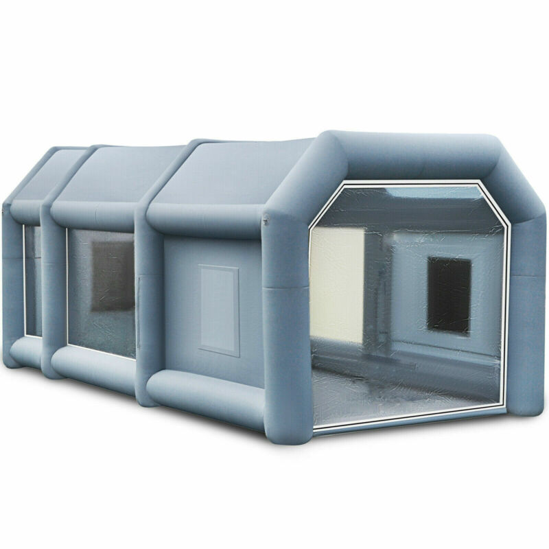 Spray Booth Inflatable Tent Car Paint Portable Cabin 2 Blowers 26ftx15ftX10ft AA