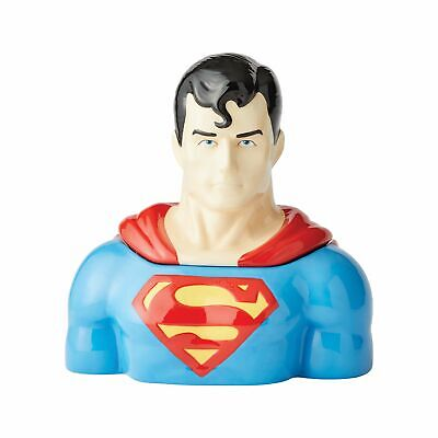 Enesco DC Comics Ceramics Superman Sculpted Cookie Jar Canister 10.5 Inch