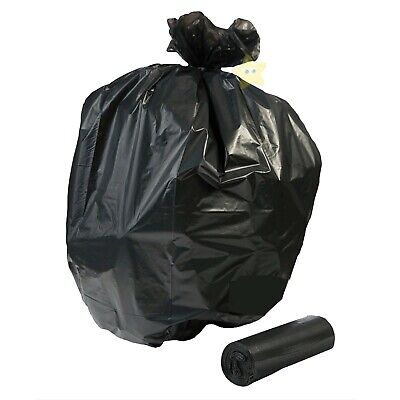 100 LARGE HIGH QUALITY STRONG CLEANING BIN RUBBISH BAGS BLACK REFUSE SACKS