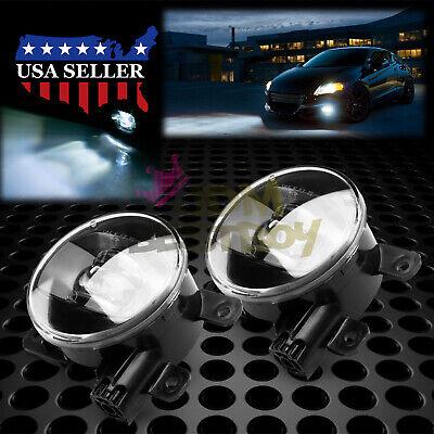 Pair LED 60W Fog Light Lamp Clear Lens Upgrade Aftermarket OEM Replacement (2005 Jaguar S Type R 0 60)