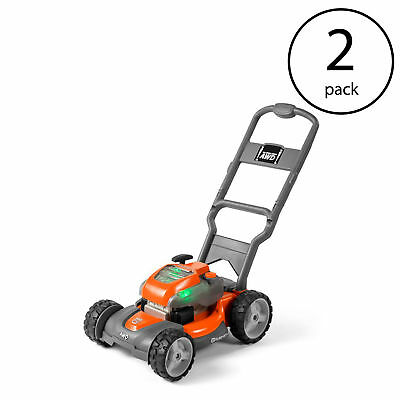 Husqvarna Battery-Powered Kids Toy Lawn Mower for Ages 3+, Orange  (2 Pack)