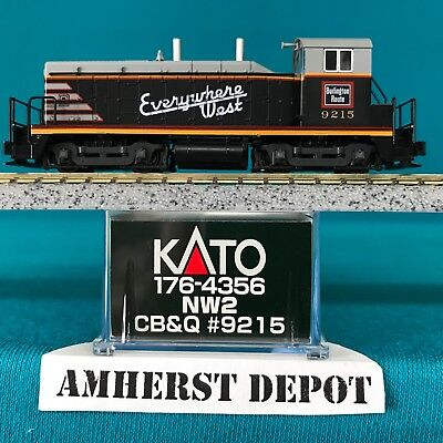 Kato USA Model Train Products EMD NW2 #9205 CB and Q Everywhere West N Scale Train