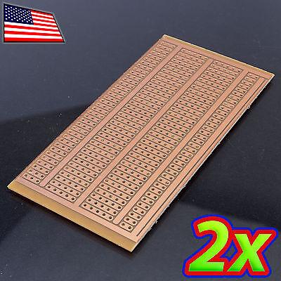 2x 5 X 10 Cm Diy Pcb Prototype Circuit Solder Breadboard - Discrete And Dip