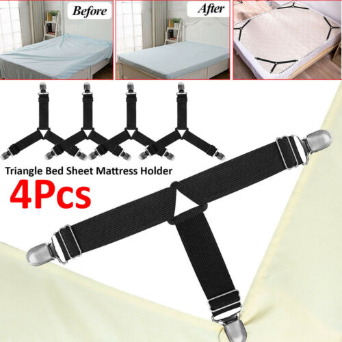 12pc Fitted Flat Sheet Mattress Gripper Clips for 1 bed