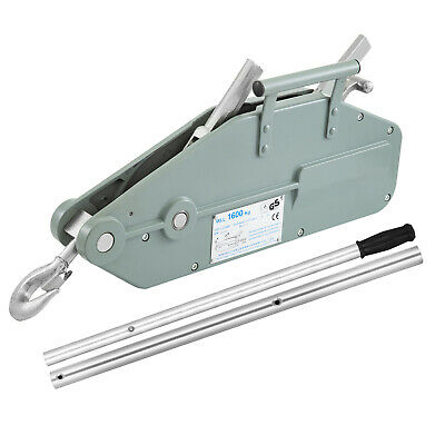1.6t Lever Wire Rope Hoist With Swivel Hook Grey Rope Puller Operating Lever