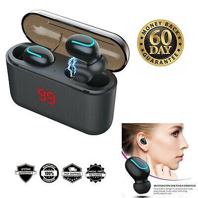Bluetooth earbuds wireless 5.0 sport headphone stereo LED display waterproof