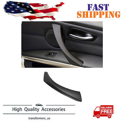 Black Right Inner Door Panel Handle Pull Trim Cover Fit For E90 (3 Panel Doors)