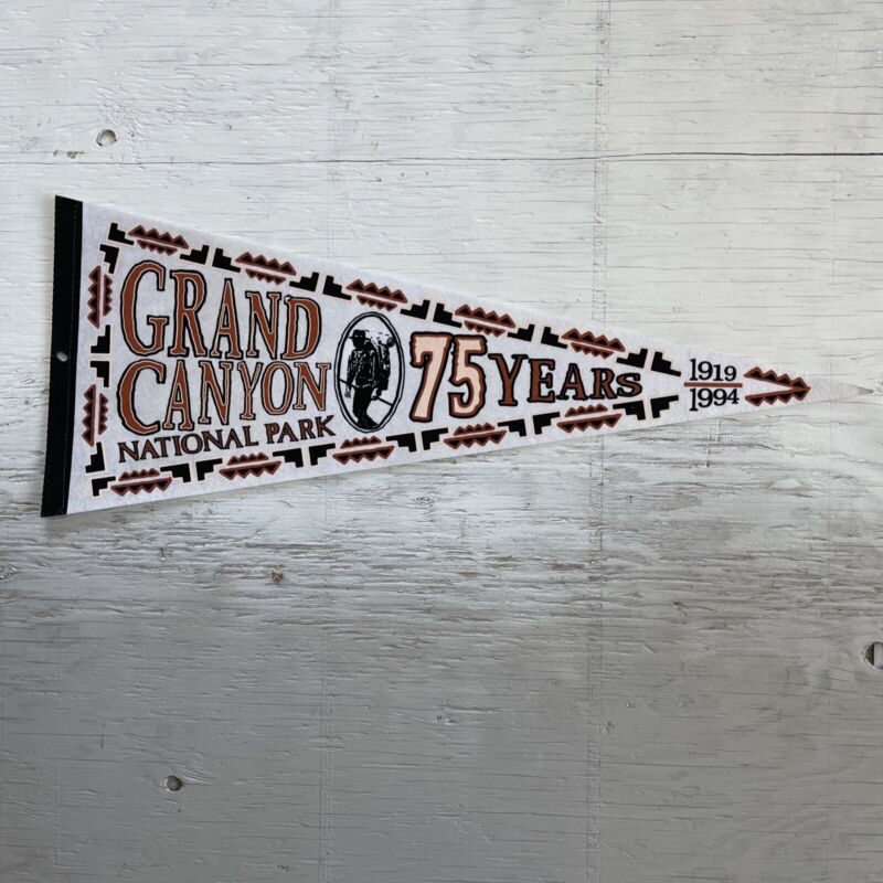 """Vintage 1994 Grand Canyon National Park 75 Years Anniversary 30"""" Pennant"""